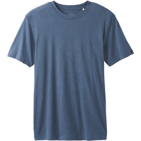 Prana T-shirt manches longues à col ras-du-cou Homme, denim heather